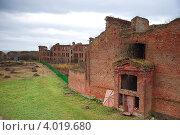 Купить «Руины тюремного корпуса, Шлиссельбург, крепость Орешек», фото № 4019680, снято 26 октября 2008 г. (c) Юлия Жемкова (Хаки) / Фотобанк Лори