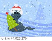 Купить «Открытка к Новому году», иллюстрация № 4023276 (c) Tati@art / Фотобанк Лори
