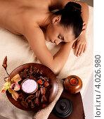 Купить «Красивая женщина на массаже в SPA салоне», фото № 4026980, снято 9 ноября 2012 г. (c) Валуа Виталий / Фотобанк Лори