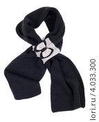 Купить «Теплый черный шарф на белом фоне», фото № 4033300, снято 9 ноября 2012 г. (c) Руслан Кудрин / Фотобанк Лори