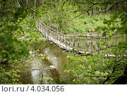 Деревянный мост. Стоковое фото, фотограф Ольга Сергеевна Титова / Фотобанк Лори
