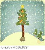 Купить «Рождественская елка», иллюстрация № 4036872 (c) Щербанова Татьяна / Фотобанк Лори