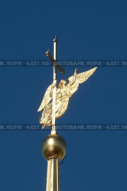 Символ Санкт-Петербурга. Ангел на шпиле Петропавловского собора (2012 год). Стоковое фото, фотограф Литвяк Игорь / Фотобанк Лори