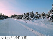 Купить «Зимний рассвет», фото № 4041988, снято 19 ноября 2012 г. (c) Александр Тараканов / Фотобанк Лори