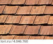 Старая крыша. Черепица. Стоковое фото, фотограф Yaroslav Bokotey / Фотобанк Лори