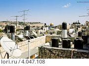 Вид на крыши Иерусалима в солнечный день (2012 год). Редакционное фото, фотограф Антон Куделин / Фотобанк Лори