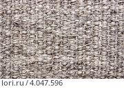 Грубая циновка сплетенная из толстых грубых волокон. Стоковое фото, фотограф Виктор Храмов / Фотобанк Лори