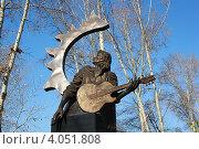 Купить «Памятник Виктору Цою в Барнауле», фото № 4051808, снято 23 октября 2011 г. (c) Александр Литовченко / Фотобанк Лори