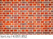 Купить «Красная кирпичная стена, фон», фото № 4051852, снято 31 октября 2012 г. (c) Дмитрий Наумов / Фотобанк Лори