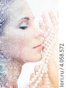 Купить «Портрет привлекательной молодой женщины с длинными волосами», фото № 4058572, снято 30 октября 2010 г. (c) Syda Productions / Фотобанк Лори