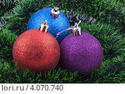 Елочные новогодние игрушки. Стоковое фото, фотограф Валерия Зарубицкая / Фотобанк Лори