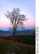 Осенний вечер в горах. Стоковое фото, фотограф Эдуард Кислинский / Фотобанк Лори