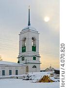 Купить «Зимний вечер в селе», фото № 4070820, снято 26 февраля 2011 г. (c) Зобков Георгий / Фотобанк Лори