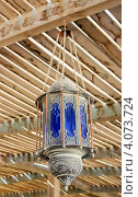 Купить «Уличный фонарь в арабском стиле», фото № 4073724, снято 8 ноября 2012 г. (c) Винокуров Александр / Фотобанк Лори