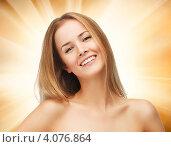 Купить «Портрет привлекательной юной девушки с русыми волосами крупным планом», фото № 4076864, снято 25 июня 2012 г. (c) Syda Productions / Фотобанк Лори