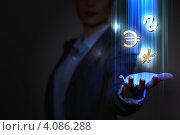 Купить «Знаки денежной валюты в руке деловой женщины», фото № 4086288, снято 16 сентября 2012 г. (c) Sergey Nivens / Фотобанк Лори