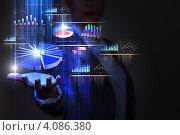 Купить «Финансовые графики и символы на руке человека», иллюстрация № 4086380 (c) Sergey Nivens / Фотобанк Лори