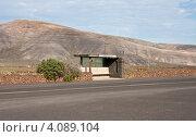 """Остановка автобуса """"Парк кактусов"""" (Jardin de Cactus) на острове Лансароте (2012 год). Стоковое фото, фотограф Сергей Якуничев / Фотобанк Лори"""