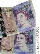 Купить «Денежные знаки Великобритании, 20 фунтов», фото № 4097656, снято 5 декабря 2012 г. (c) Игорь Ткачёв / Фотобанк Лори