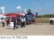 Купить «Международный авиационно-космический салон МАКС-2011. Двухмоторный многоцелевой вертолет AgustaWestland AW139», фото № 4100216, снято 16 августа 2011 г. (c) Игорь Долгов / Фотобанк Лори