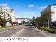 Проспект Ленина, Магадан (2011 год). Редакционное фото, фотограф Dmitry Burlakov / Фотобанк Лори