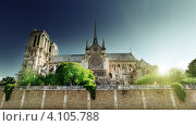 Купить «Нотр-Дам де Пари, Париж, Франция», фото № 4105788, снято 17 июня 2012 г. (c) Iakov Kalinin / Фотобанк Лори