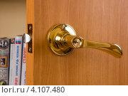 Купить «Дверная ручка», фото № 4107480, снято 27 декабря 2011 г. (c) Владимир Хаманов / Фотобанк Лори