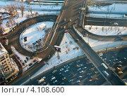 Купить «Москва. Автомобильная развязка», фото № 4108600, снято 12 декабря 2012 г. (c) Зобков Георгий / Фотобанк Лори