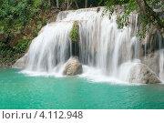 Четвертый каскад водопада Эраван, Таиланд (2010 год). Стоковое фото, фотограф Dmitry Burlakov / Фотобанк Лори