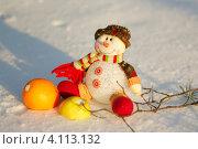 Снеговик. Стоковое фото, фотограф Сиверина Лариса Игоревна / Фотобанк Лори