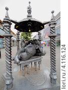 Купить «Казань, памятник Коту Казанскому (Алабрысу) на улице Баумана», эксклюзивное фото № 4116124, снято 14 августа 2012 г. (c) A Челмодеев / Фотобанк Лори