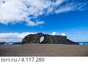 Купить «Фуэртевентура, Канарские острова. Каменная арка на побережье», фото № 4117280, снято 29 ноября 2012 г. (c) Tamara Kulikova / Фотобанк Лори