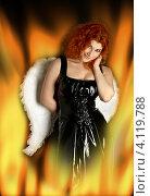 Купить «Девушка с ангельскими крыльями в огне», фото № 4119788, снято 28 января 2007 г. (c) Syda Productions / Фотобанк Лори