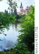 Вид на замок Пругонице. Прага, Чехия. Стоковое фото, фотограф Юрий Брыкайло / Фотобанк Лори