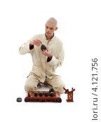 Мастер чайной церемонии. Стоковое фото, фотограф Syda Productions / Фотобанк Лори