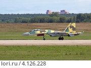 Купить «Международный авиационно-космический салон МАКС-2011. Многоцелевой высокоманевренный всепогодный истребитель Су-35», фото № 4126228, снято 19 августа 2011 г. (c) Игорь Долгов / Фотобанк Лори