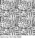 Купить «Бесшовный фон из множества игральных кубиков», иллюстрация № 4132560 (c) pzAxe / Фотобанк Лори