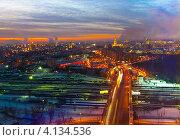 Купить «Ночная Москва», фото № 4134536, снято 19 декабря 2012 г. (c) Зобков Георгий / Фотобанк Лори