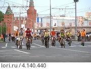 Купить «Москва, 20 мая. Велопарад Let's bike it!», эксклюзивное фото № 4140440, снято 20 мая 2012 г. (c) lana1501 / Фотобанк Лори