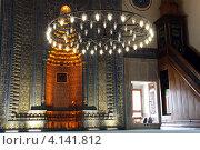 Купить «Михраб и минбар мечети в городе Бурса, Турция», фото № 4141812, снято 18 сентября 2012 г. (c) Валерий Шанин / Фотобанк Лори