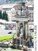 Купить «Фонтаны на Площади Испании, Барселона», фото № 4146896, снято 22 сентября 2012 г. (c) Хайрятдинов Ринат / Фотобанк Лори