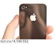 Купить «Iphone Apple в руке», фото № 4149552, снято 13 декабря 2012 г. (c) Насыров Руслан / Фотобанк Лори