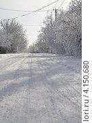 Снежная дорога. Стоковое фото, фотограф Валерия Печура / Фотобанк Лори