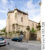 Купить «Церковь Santisima Trinidate в городе Оренсе в Испании», эксклюзивное фото № 4151728, снято 26 сентября 2012 г. (c) Владимир Чинин / Фотобанк Лори