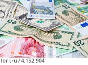Купить «Доллары и евро», фото № 4152904, снято 25 ноября 2012 г. (c) Mikhail Starodubov / Фотобанк Лори