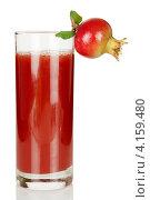 Купить «Гранатовый сок в стакане», фото № 4159480, снято 15 декабря 2012 г. (c) Ирина Денисова / Фотобанк Лори