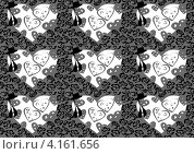 Упаковка. День святого валентина. Красные сердца. Стоковая иллюстрация, иллюстратор Ольга Рыбкина / Фотобанк Лори