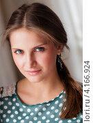Купить «Портрет милой девушки с длинными волосами», эксклюзивное фото № 4166924, снято 5 января 2013 г. (c) Игорь Низов / Фотобанк Лори