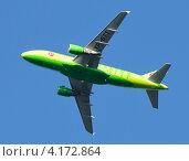 Купить «Airbus A319 (бортовой VP-BTT) авиакомпании S7, вылет из Домодедово», эксклюзивное фото № 4172864, снято 20 июля 2011 г. (c) Alexei Tavix / Фотобанк Лори