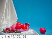 Натюрморт из крашенных яиц и цветов. Стоковое фото, фотограф Диана Гарифуллина / Фотобанк Лори